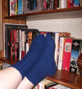 My favorite socks!  Hand-knitted to my measurements and desires by Michelle.