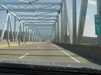 Crossing the Ohio river at Beaver