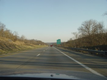 About half way between Washington and Morgantown...