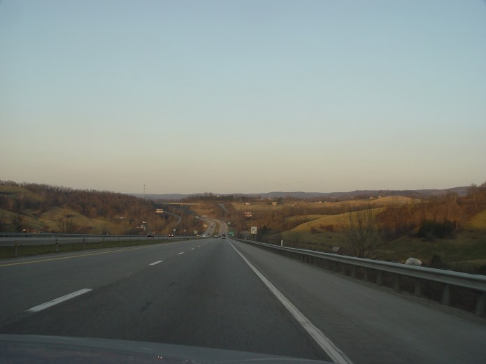 The road by Morgantown, West Virginia.