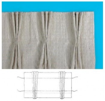 Pinch Pleat curtain tape - Image from Terry's Fabrics