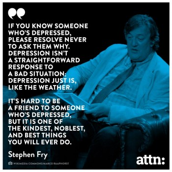 stephen fry depression why