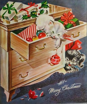 1940s Christmas card, by 1950sUnlimited. CC 2.0